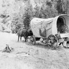 Camp-Trinity-Bar-717-Ranch-Calvin-Gates'-covered-wagon